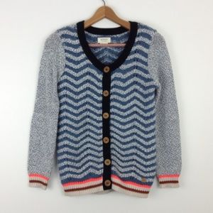 Anthropologie Stripe Chevron Boho Cardigan Sweater